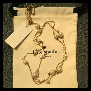 Kate spade pearls of wisdom long chain necklace